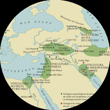 Mapa histórico da origem do vinho